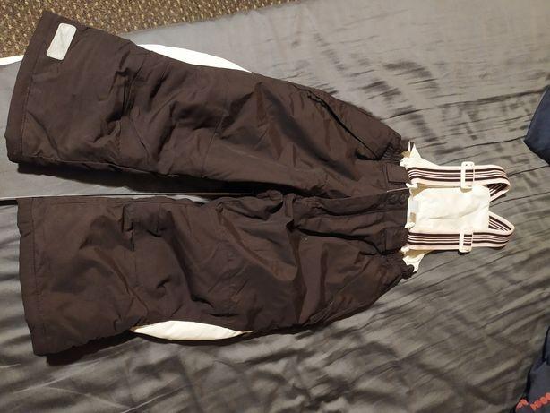 Spodnie narciarskie h&m, zimowe, ciepłe na śnieg 98