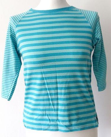 Damska T-shirt koszulka bluzka paski niebieska turkus Levis S M 36 38