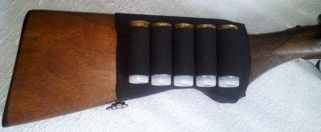 Патронташ на приклад на 5 патронов 12, 16 и 20 калибра