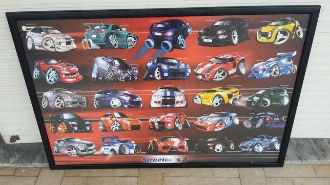 25 CARROS RALI. Com Marca e Modelo. Expositor 90x60cm. 3 Fotos. C Novo