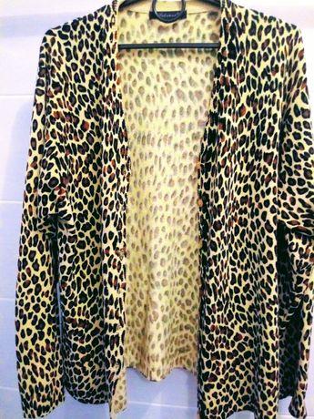Sweter-panterka, zapinany na guziki -rozm.M-L/ super stan - jak nowy
