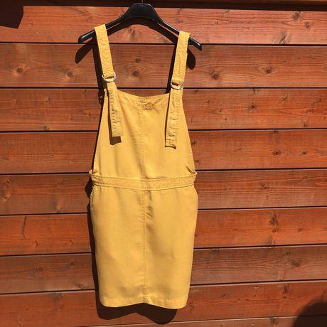 Jardineiras saia amarela