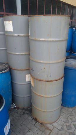 Beczki/pojemniki metalowe 200l dwukorkowe z plastikowym wkładem