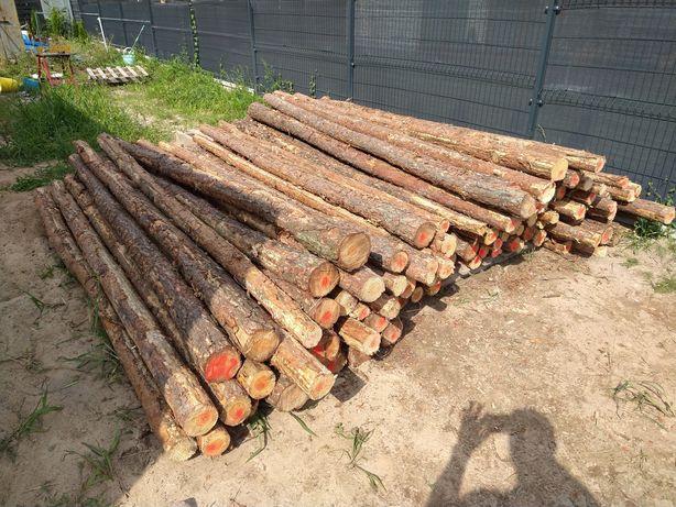 Stemple budowlane drewniane drewniane 3m+, GRUBE PROSTE