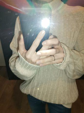 Ciepły sweter r. M kolor beż