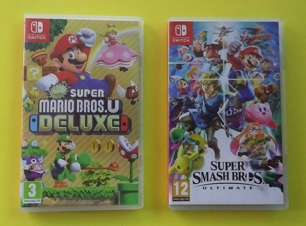 Super Mario Bros Deluxe e Super Smash Bros Ultimate - Nintendo Switch