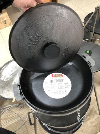 Сковорода чавунна жаровня Биол для відкритого вогню НОВИНКА для пікнік