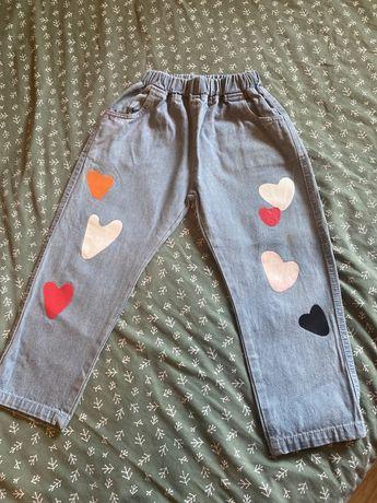 Джинсовые штанишки бананки на девочку