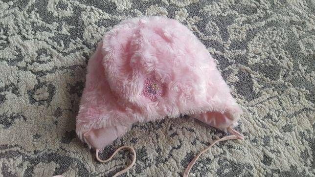 Czapka zimowa pluszowa dla dziewczynki 12-18 mies2.