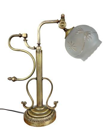 Stylowa lampka biurkowa mosiężna No. 14