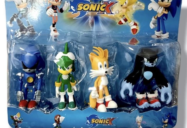 Figuras Sonic (conjunto de 4 figuras)