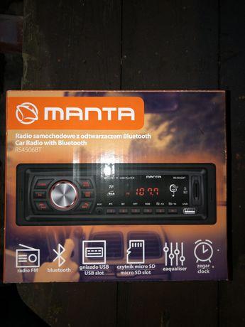 Radio samochodowe z odtwarzwczem bluethooth Manta