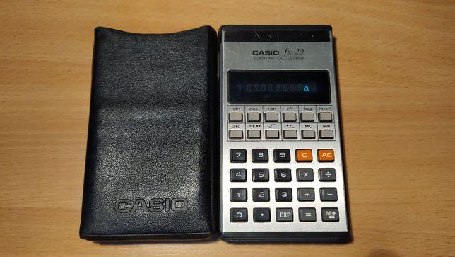 Kalkulator naukowy Casio FX-20 z etui, oryg. made in Japan 1975/1976.