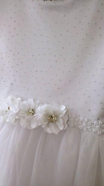 Sukienka komplet na chrzest