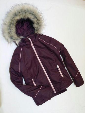 НОВА Шикарна курточка з пишним гарним мехом на 13-15р.(подростка) H&M