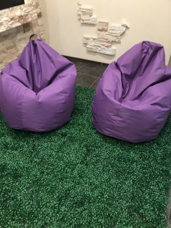 Кресло-мешок, фиолетовый, новый, 120*80