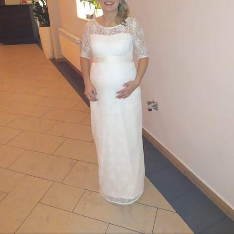 Sukienka slubna koronka, sukienka ciazowa
