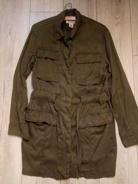 Płaszcz, butelkowa zieleń, h&m r.38