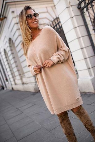 Sweter Tunika oversize beżowa L/XL BASTET