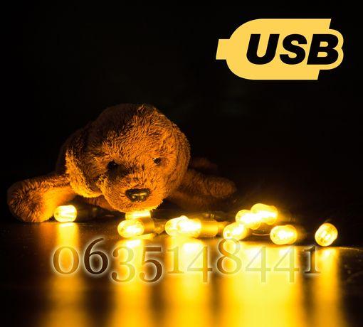 ЛУЧШАЯ !!! УЛИЧНАЯ USB ретро гирлянда ретрогирлянда LED лампа лофт