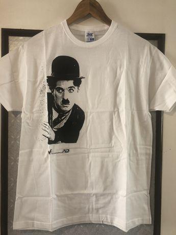 T-shirt z Charlie Chaplinem