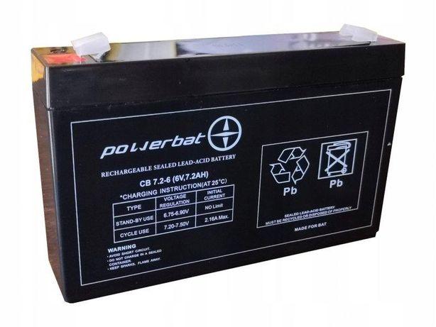 Akumulator żelowy Powerbat Cb 7,2, 6 6v 7,2Ah