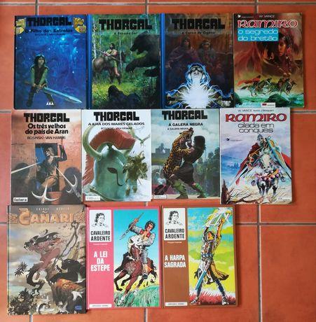 11 Albúns Thorgal, Cavaleiro Ardente, Canari e Ramiro desde 10 euros c