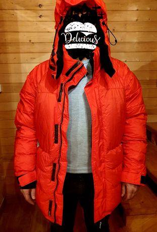 SUPER ciepła kurtka puchowa czerwona