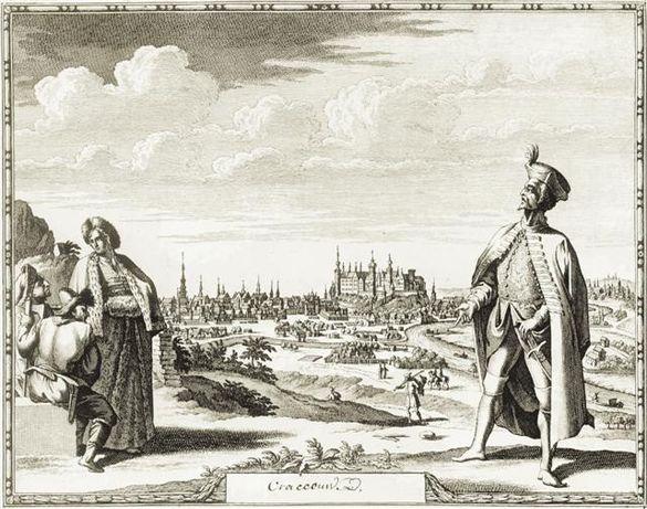 KRAKÓW XVI-XVIII w. piękne stare plany miasta do gabinetu, biura