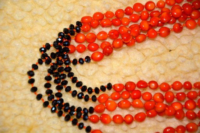 Бусы коралловые, ожерелье, буси, корал