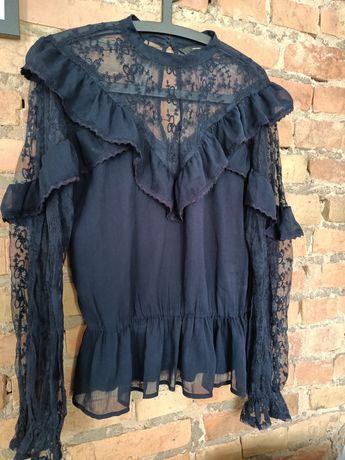 Granatowa koronkowa bluza rozmiar 38 Vero moda