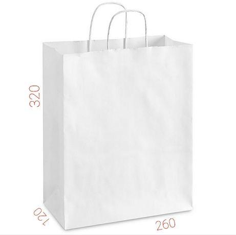 Бумажные пакеты белые с ручками