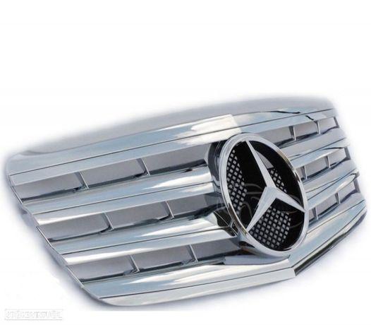 GRELHA FRONTAL TIPO AMG MERCEDES E W211 06-09 CROMADA PRATA