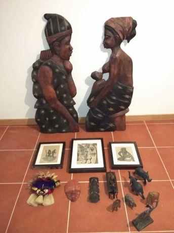 Conjunto de arte africana