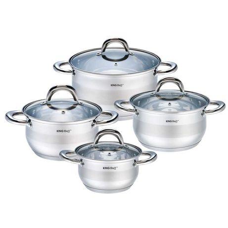 Набор посуды 8 предметов (кастрюли) KingHoff 1095