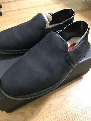 зимние слипоны мокасины ugg угги туфли