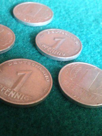 1 Pfennig NRD/DDR/-roczniki-1948,1952,1965,1972,1973-Stan Idealny!