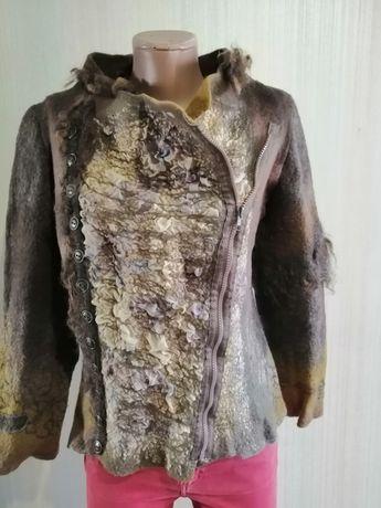 Валяная кофта пиджак