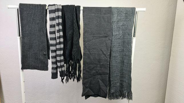 Cachecóis e lenços vários