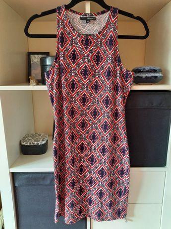 Wzorzysta bawełniana sukienka midi Tally Weijl