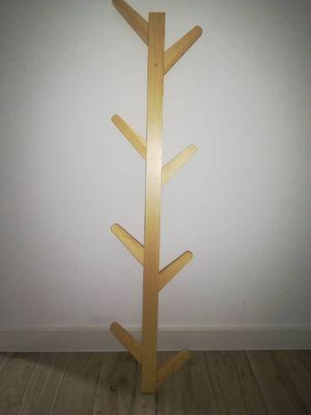 Wieszak jodełka drewniany