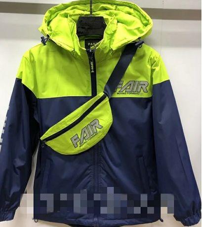Крутая Куртка ветровка +бананка НОВИНКА 9-13лет