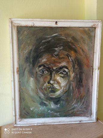 Obraz - autoportret kobiety w oleju.