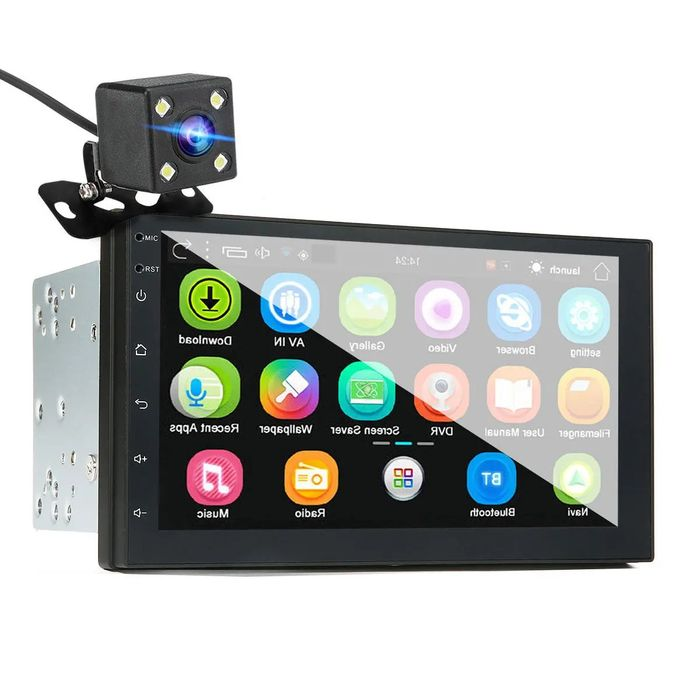 Auto-Rádio Android 8.0, 2 Din MP5 GPS WIFI bluetooth, Câmera Traseira Água de Alto - imagem 1