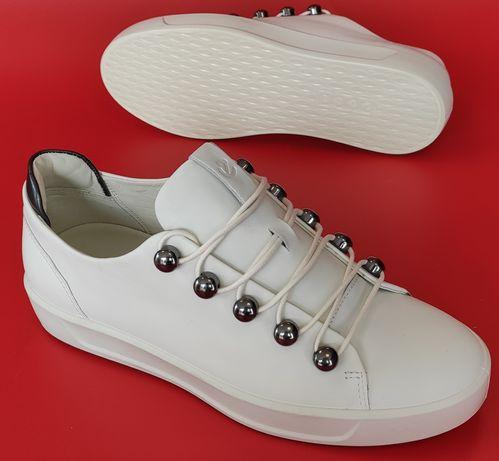 Ecco Soft 8 Жіночі Білі Кеди Кросівки 41 розмір Белые Кроссовки Кеды