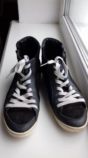 Кеды кроссовки кожаные