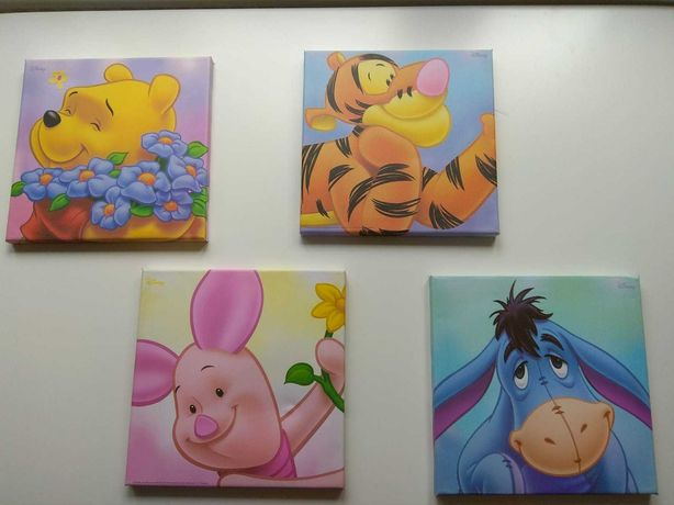 Obrazki do pokoju dziecka z serii Kubuś Puchatek