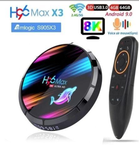 Tv Box H96 Max X3 8K 3D A9.0 4/32/64/128GB Nowość!! SPOTIFY NETFLIX