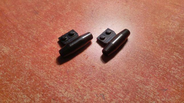 Klocki Lego zderzaki silniki czarne i szare spojlery wydech 3 sztuki