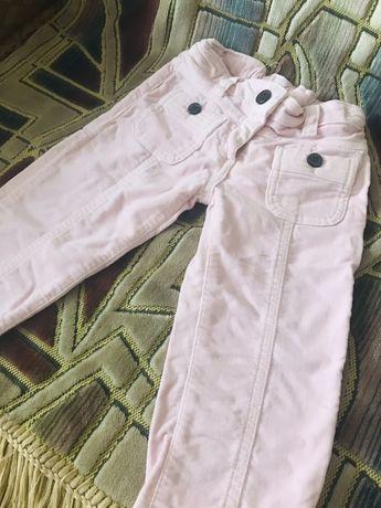 Фірмові дівчачі котонові штанці на 2 рочки